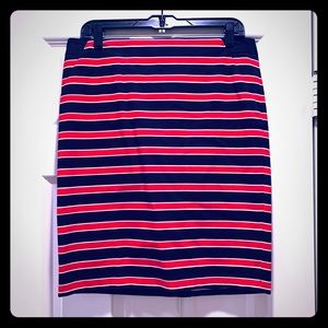 The Limited NWOT Red White Blue Pencil Skirt